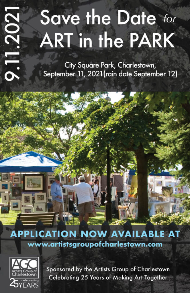 dates and sponsors for art fair called Art in the Park